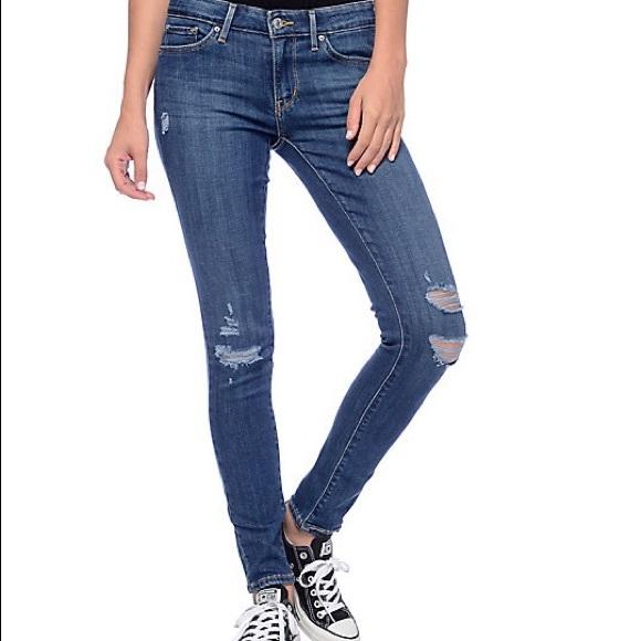 251484a1ab5 Levi s Denim - Levi s 711 skinny jeans distressed denim